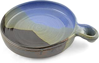 Holman Pottery Nacho Plate, Blue Earth