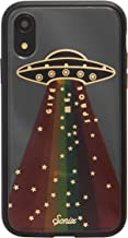 Sonix Give Me Space Case for iPhone XR [Military Drop Test Certified] Protective Rainbow UFO Spaceship Clear Case for Apple iPhone XR