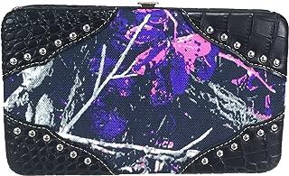 ZZFAB Rhinestone Studded Moon Shine Camo Wallet Muddy Girl Wallet