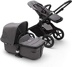 Bugaboo Fox 2 - Cochecito y silla 2 en 1 con un sistema robusto y ligero con suspensión avanzada para todo tipo de terrenos, hasta los 22 kg, con capota en gris y base en negro