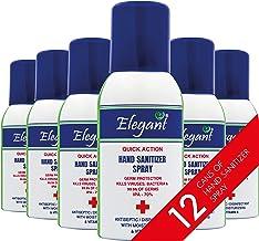 Elegant Hand Sanitizer Spray – 100ml – Pack of 12 – 70% IPA – Advanced Germ Protection – Moisturizers & Vitamin E
