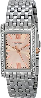 Caravelle New York by Bulova Women's 45L140 Swarovski Crystal-Accented Stainless Steel Watch