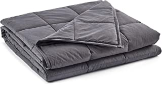 beddingking Weighted Blanket 20lbs (60''x80'', Grey, Queen Size) for Adults and Kids Heavy Blanket Cooling Cotton 100% Cotton Material with Glass Beads