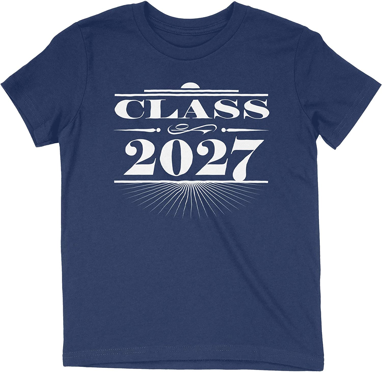 HARD EDGE DESIGN Girl's Youth Art Deco Class of 2027 T-Shirt