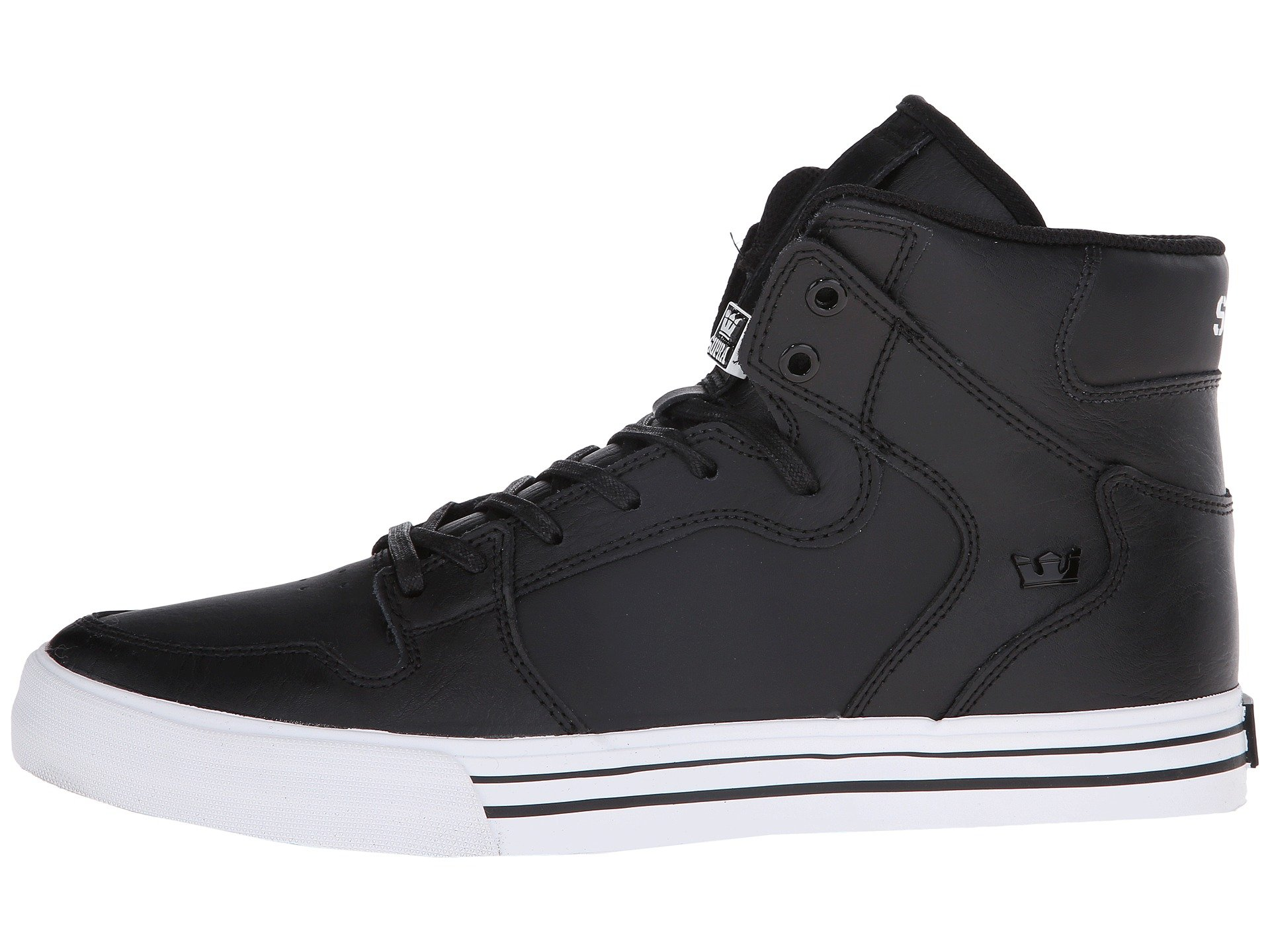 Vaider Supra Vaider Black white leather Supra white Black zBWqwWUIpx