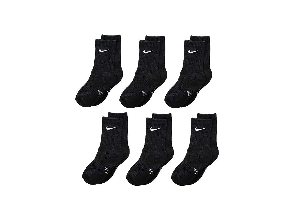 Nike Kids Dri-Fit Performance Basic Crew (Toddler/Little Kid) (Black) Kids Shoes
