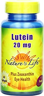 Nature's Life Lutein 20 mg   60 ct