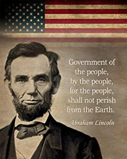 Gabby's Choice Abraham Lincoln - Government of the people by the people Art print - 11 x 14 Unframed Wall Art Print - Grea...
