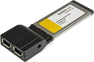 StarTech.com 2 Port ExpressCard 1394a FireWire Laptop Adapter Card - Dual Port ExpressCard 1394a Laptop FireWird Card (EC13942A2)