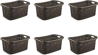 Sterilite 12756P06 Weave Laundry Basket, Espresso, 6-Pack