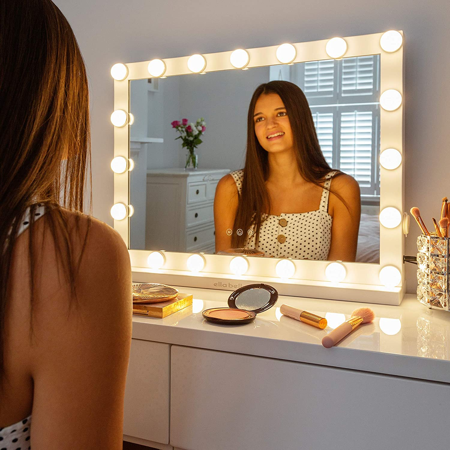 Vanity 67% OFF of fixed price Mirror with Lights Makeup Lighted Adjust Bombing new work Fully