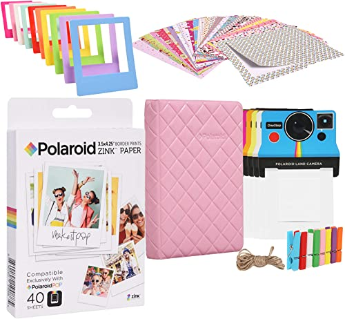popular Polaroid 3.5 x popular 4.25 inch high quality Premium Zink Paper Starter Kit with Photo Album outlet sale