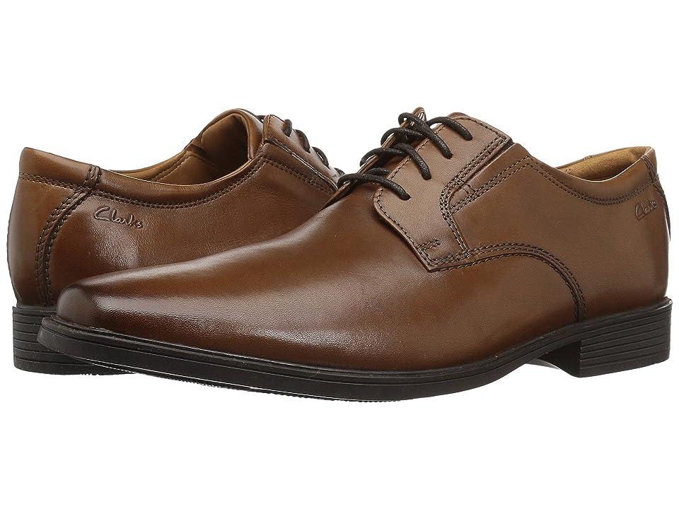 Clarks Tilden Plain (Dark Tan Leather) Men