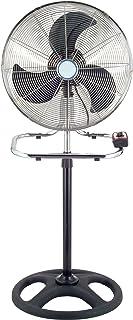Niklas Essen Ventilador Industrial Oscilante Mod.3EN1. Circulador de Aire Multi-Uso. Diametro 46cms. Opción: Pie, Sobremesa y Pared. Tres Aspas Metálicas.