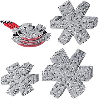 flintronic Protection Casseroles et Protège-poêle, 15PCS Poele Protection(3 Tailles), Premium Coussinets d'intercalaire Sé...