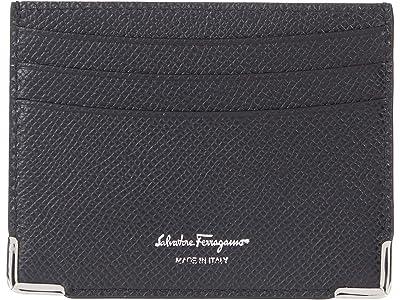 Salvatore Ferragamo Slim Card Holder (Nero/Nero) Bill-fold Wallet