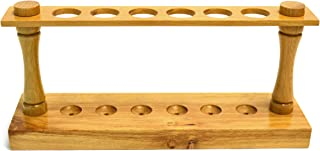 Eisco Labs Premium Wooden Test Tube Rack, (6) 22mm Holes, 9.5
