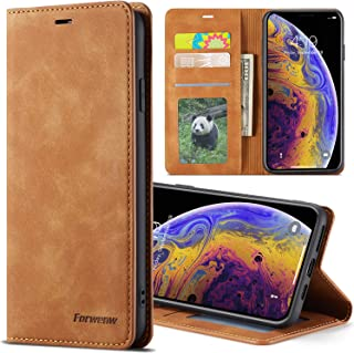 Wallet Case for iPhone X XS/XR/Xs Max [Folio Cover][Stand Feature] Slim Flip Leather Card Solt Holder Wallet Case