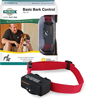 PetSafe Basic Bark Control Collar for Dogs 8 lb. and Up, Anti-Bark Training Device,..