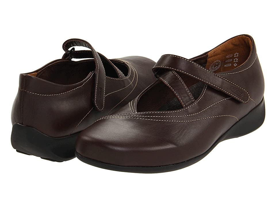 04d1940295a Wolky Passion (Cafe Smooth Leather) Women s Flat Shoes