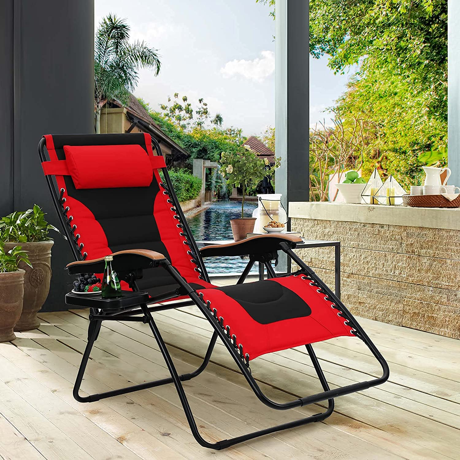 MAISON ARTS Oversize XL New Orleans Mall Padded Zero Anti Gr Chair Max 68% OFF Gravity Lounge
