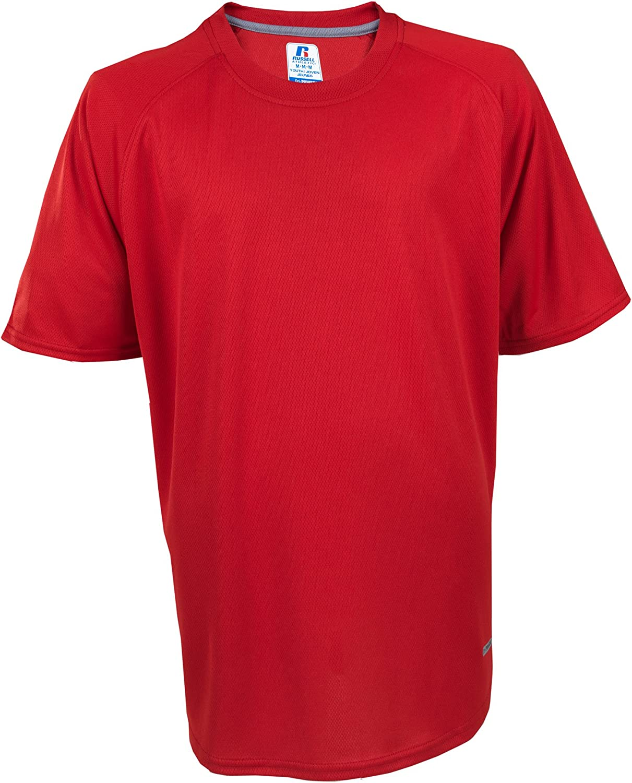 NWT Russell Short Sleeve Active Performance Shirt Gray Boys Girls Dri-Power 360