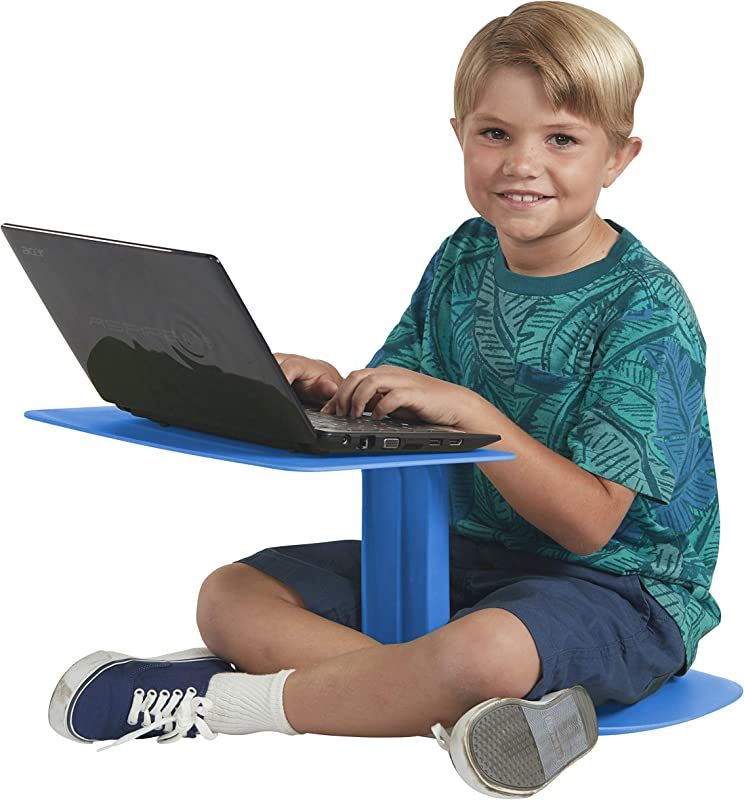 ECR4Kids The Surf Portable Lap Desk Laptop Stand Writing Table Blue 10 Pack