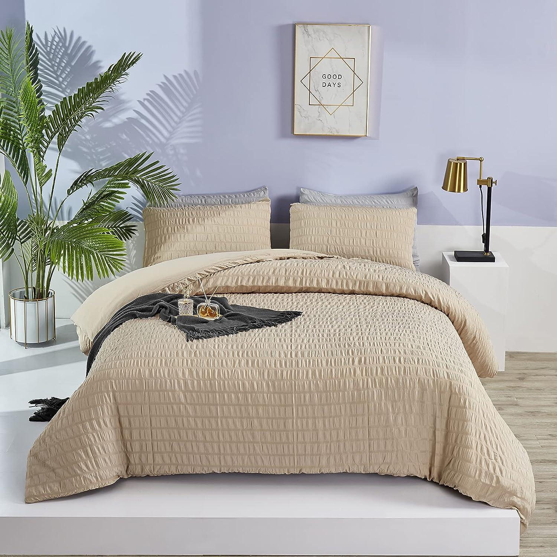 Max 86% OFF Jumeey Khaki Ranking TOP10 Comforter Set Queen Brown Light Seersucker Comforte