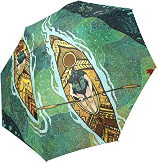 Christmas//Thanksgiving Gifts Gustav Klimt Farm Garden with Sunflowers Travel Easy Carrying Umbrella