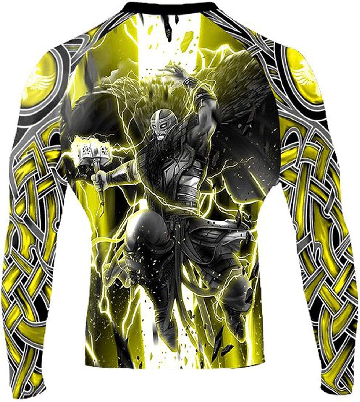 Raven Fightwear Men/'s Wind Element BJJ MMA Rash Guard