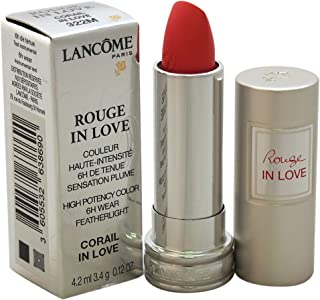 Lancome Rouge In Love High Potency Color Lipstick, 322M Corail In Love, 0.12 Ounce