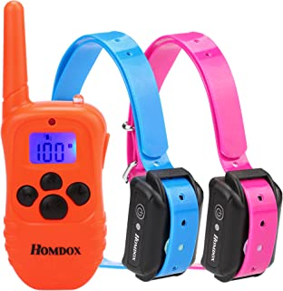 Wookrays Dog Training Collar Rechargeable with 3 Correction Training Modes(Shock, Vibration, Sound) Waterproof Dog Training Set Backlight Dog Shock Collar with Remote for 2 Dogs
