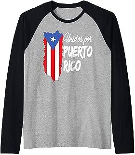Puerto Rico Se Levanta T-shirt - Unidos Por Puerto Rico Raglan Baseball Tee
