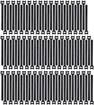 Haobase 100pcs Reusable Fastening Cable Ties Adjustable Strap Wire Management (6 Inch, Black)