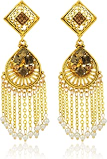 Crunchy Fashion Bollywood Style Stylish Traditional Indian Jewelry Drop Earrings for Women & Girls