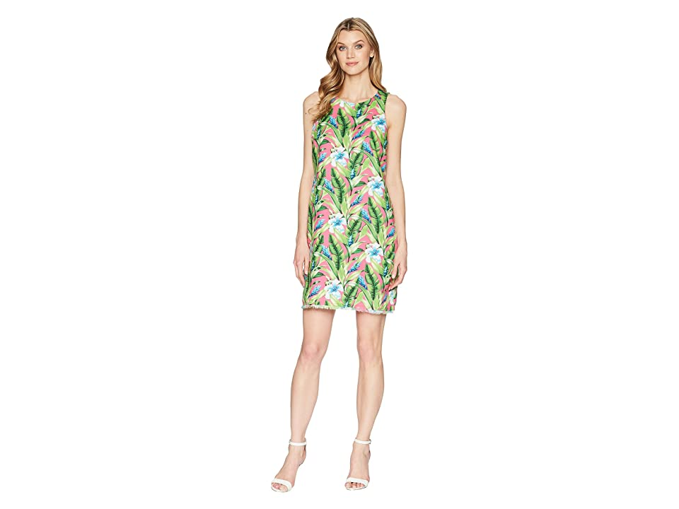 Tommy Bahama Tulum Blooms Shift Dress (Knockout Pink) Women