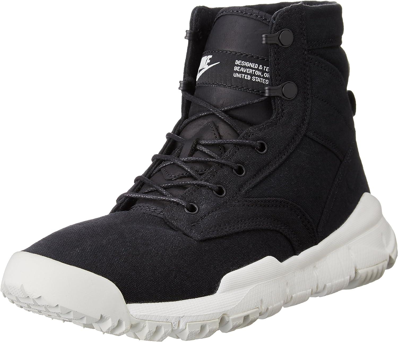 Nike Mens SFB Field 6  ACG Canvas Boots Black Sail 844577-001 Size 12
