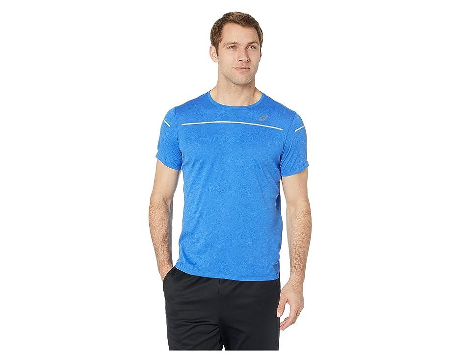 Image of ASICS Lite-Show Short Sleeve Top (Illusion Blue) Men's Clothing