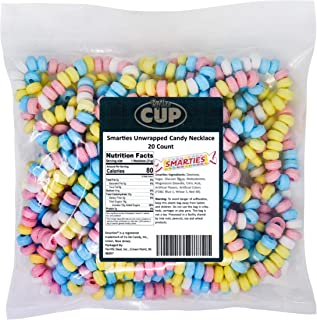 By The Cup Smarties Unwrapped Candy Necklace 20 Count