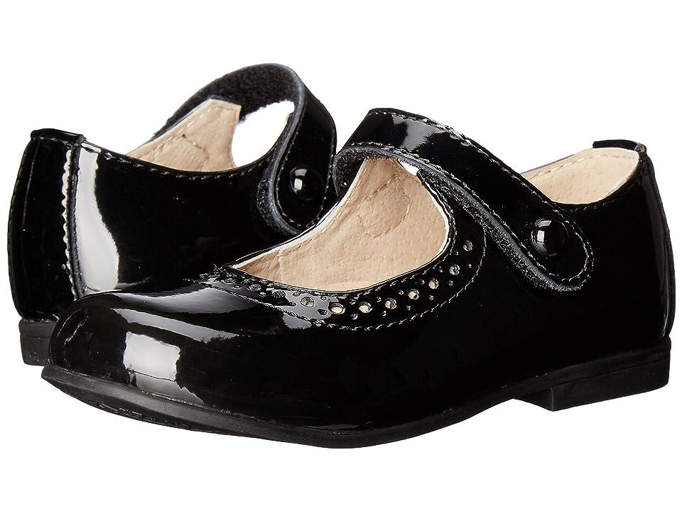 FootMates Emma (Toddler/Little Kid) (Black Patent) Girls Shoes