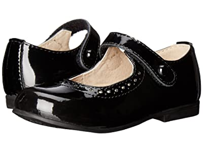 FootMates Emma (Toddler/Little Kid) (Black Patent) Girls Shoes