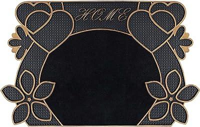 "FH Group DM019 Black with Golden Trim and Black Carpet 18"" x 30"""