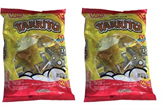 Vero Mexican Candy Tarrito Fruit Flavored Lollipops, 40 Count Bag (Pack of 2)