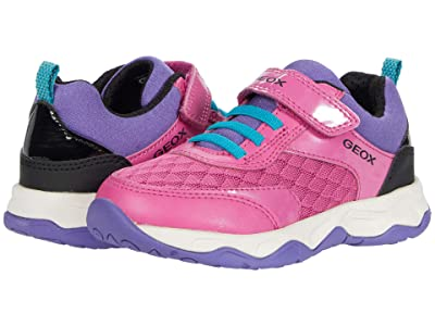 Geox Kids Calco 1 (Little Kid/Big Kid) (Fuchsia/Black) Girl