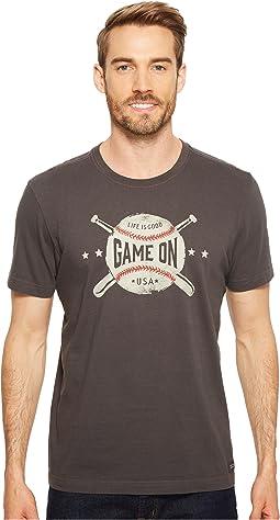 Life is Good Game On Baseball Crusher Tee