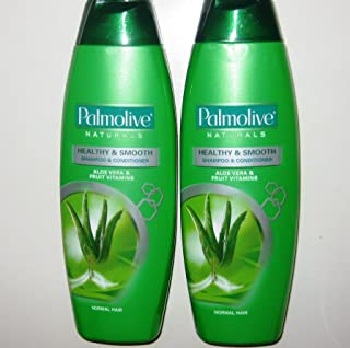 Lot of 2 Palmolive Naturals Shampoo & Conditioner 2in1 Healthy & Smooth for Normal Hair 180mL/pk (Total 360mL)