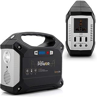 Generador portátil SereneLife, estación de alimentación de 155 Wh, inversor de energía silencioso sin gas, paquete de bate...