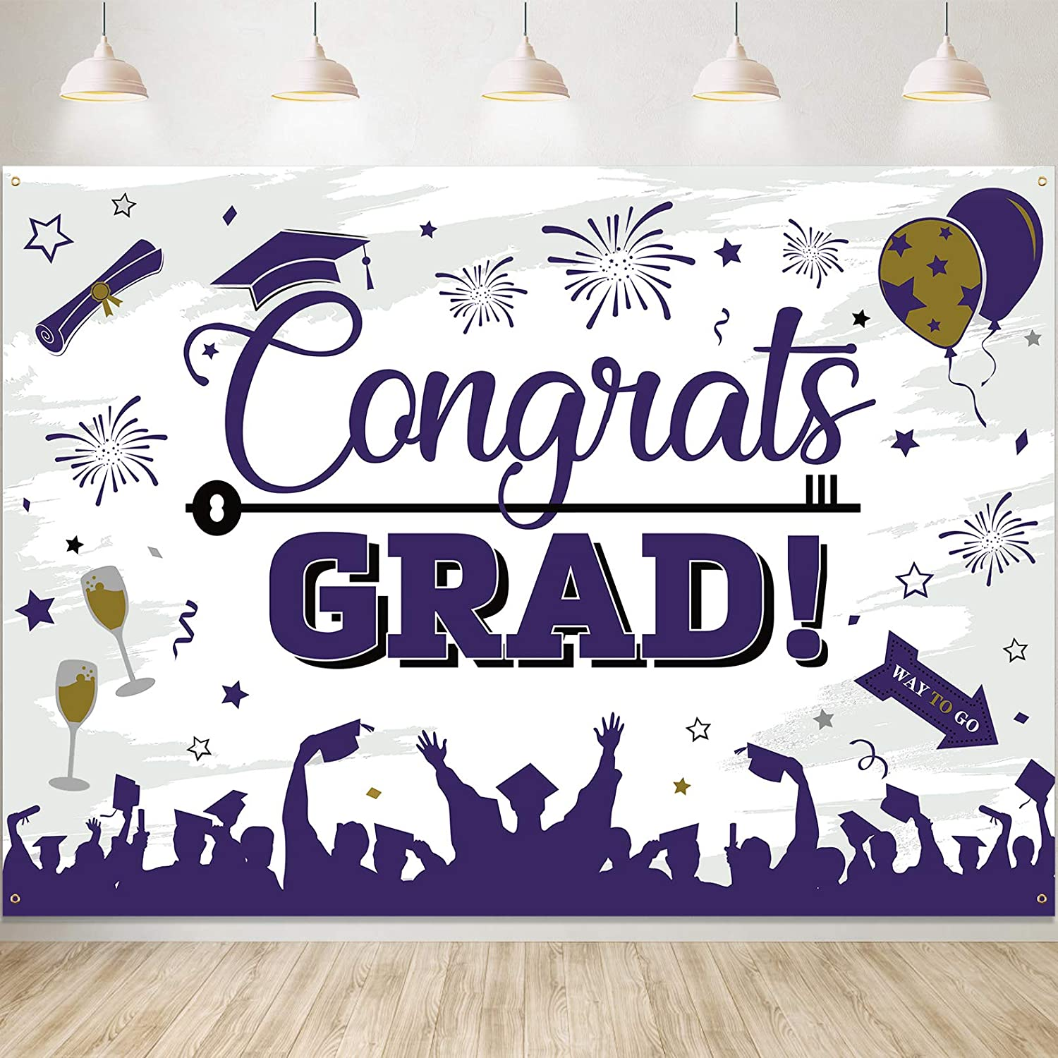 Factory outlet Graduation Decorations Free Shipping New 2021 82.6''x59'' Large Gra Congrats Size