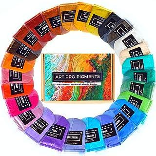 Art Pro Pigments Mica Powder - Brilliant 27 Color Set - Epoxy Resin Pigment Powder - Versatile Colorant for Lip Gloss, Mak...