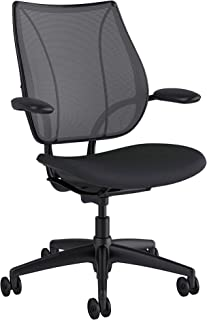 Humanscale Liberty Office Desk Task Chair - L111BJ1ACF12 - Adjustable Duron Arms, Catena (1A) Poppy Seed Backrest Mesh, Corde 4 (12) Graphite Fabric Seat